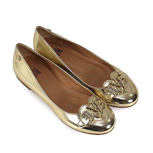 Love Moschino Women's JA11061C05JI0900 Gold Leather Flats cheap explore discount wiki with mastercard online SdWm6CuyZ
