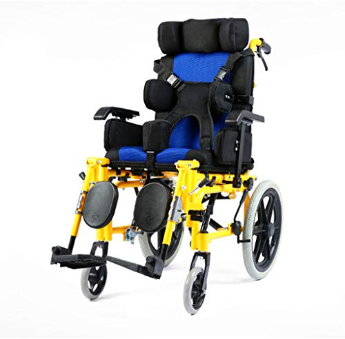 Lightweight Folding Adult Wheelchair Driving Medical Multi-Functional Fully Lying Flat Reclining Wheelchair Car Adult Wheelchair Cerebral Palsy