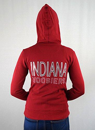 Indiana Womens Hoody Zip Sweatshirt - Elite Fan Shop Indiana Hoosiers Women's Full Zip Hooded Sweatshirt Captain Crimson - S