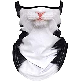 3D Animal Neck Gaiter Balaclava Anti-UV Windproof Face Mask Scarf for Motorcycle Cycling Hiking Ski