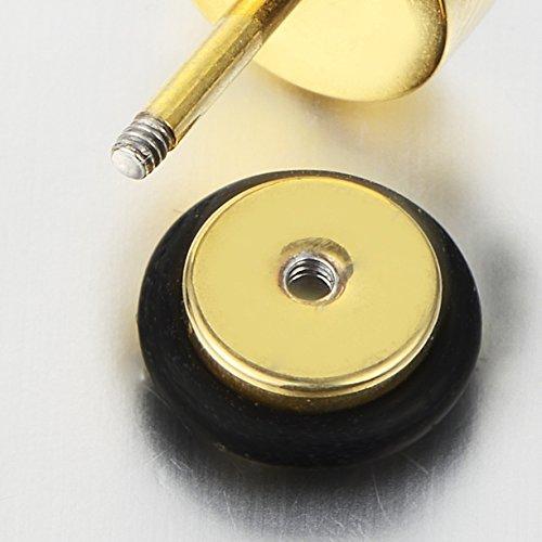 /Acier inoxydable Boucles doreille faux Plug Tunnel Gauge avec insert de fibre de carbone motif grec cl/és Boucles doreille Homme/