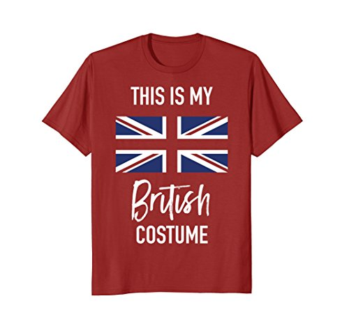 Mens This is my British Costume T-Shirt - Funny Halloween Tee 2XL Cranberry