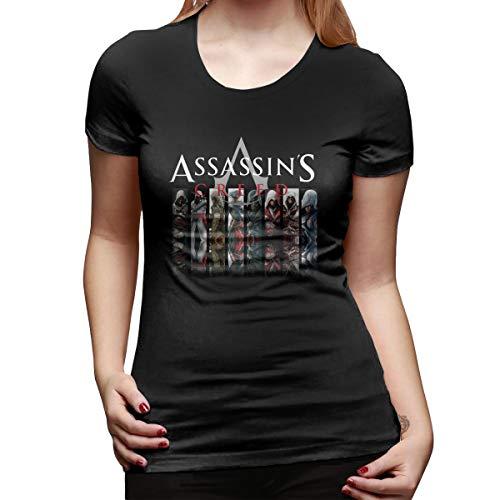 ALWAYSUV Women Logo of Assassin's Creed Comfortable Short Sleeve Tee Shirt Black]()