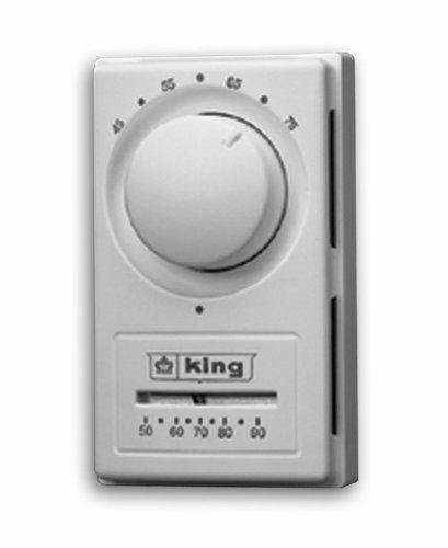 King K601TR Single Pole European Style Thermostat, ()