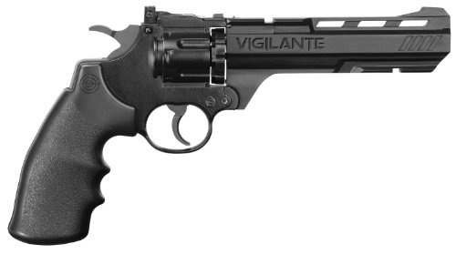 Crosman CCP8B2 Vigilante 3576W CO2 .177-Caliber Pellet and BB Revolver CCP8B2 (Rubber Bullets For Airsoft Gun)