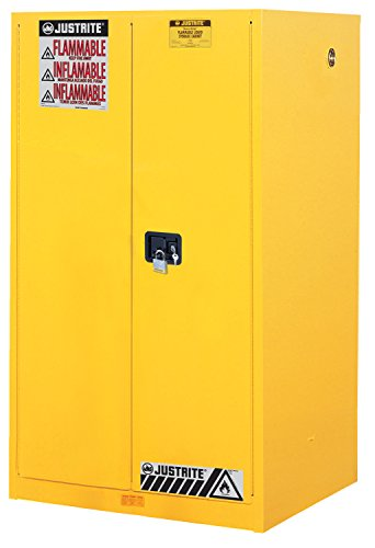 Justrite 60 Gal Safety Cabinet - Justrite 896000 Sure-Grip Flammables Cabinet, Manual-Close, 60 Gal, Yellow