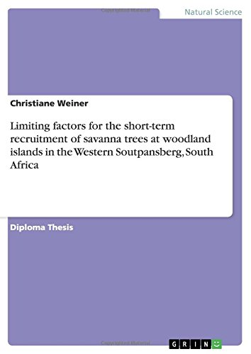 Download Limiting factors for the short-term recruitment of savanna trees at woodland islands in the Western Soutpansberg, South Africa pdf epub