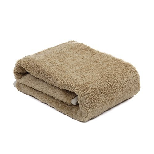 Speedy Pet Puppy Velvet Blanket Pet Cushion Small Dog Cat Bed Soft Warm Sleep Mat Light Brown XS