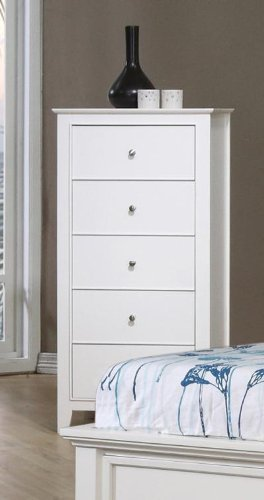 Coaster Home Furnishings Selena 5-Drawer Chest White