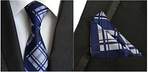 Weishang Classic Striped White Black Streak 100% Silk Men'S Tie Necktie Ties