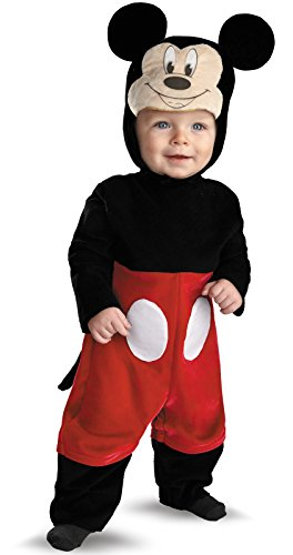Disguise My First Disney Mickey Costume, Black/Red/White, 12-18 Months