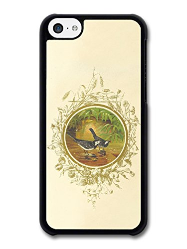 Classic Retro Vintage Illustration of Birds in Water with Floral Livery case for iPhone 5C