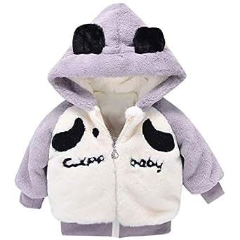 7e8eb8e86 Amazon.com  kaiCran Toddler Baby Boys Girls Panda Thick Coat Cute ...