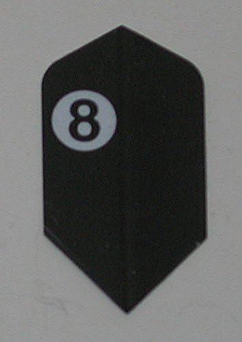 US Darts - 5セット(15フライト) アメリソン 8ボール スリムダーツフライト - エクストラタフ - 100ミクロ