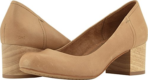 Leather Honey Finish (TOMS Women's Beverly Leather Dress Casual, Size: 12 B(M) US, Color: Honey Leather)