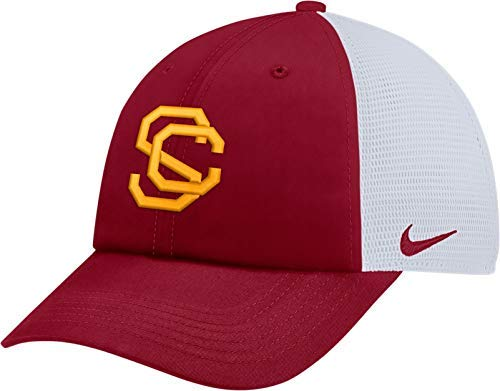 Nike Men's USC Trojans Cardinal Heritage86 Adjustable Trucker Hat (OneSize)