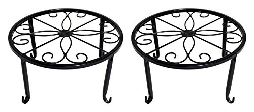 WELIGHT Plant Stand Indoor│Metal Plants Holders Outdoor,Perfect for Flower Pots Garden And Living Room│Air Plant Indoor│Outdoor Plant Holder│Potted Plant Trivets(black) by WELIGHT