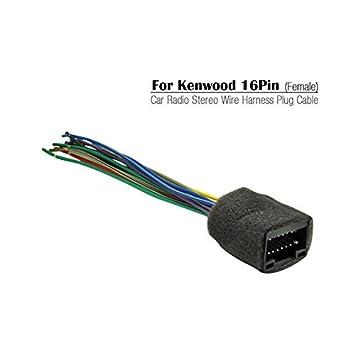 41tvT%2BdOhPL._SY355_ amazon com feeldo 16pin car radio stereo wire harness plug cable