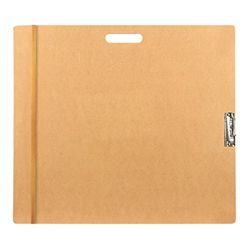 Drawing Board with Clip - Artist Sketch Tote Board for Drafting or Drawing, 23 x 26 Inches, Brown (Portable Drafting Boards)