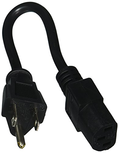 hosa-pwc-1405-6-inch-18-gauge-electrical-extension-cable-with-iec-female-connector-black