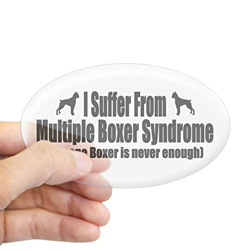 CafePress Boxer Oval Bumper Sticker, Euro Oval Car Decal ()