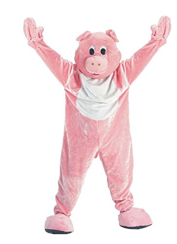 UHC Unisex Pig Mascot Jumpsuit Funny Comical Theme Adult Halloween Costume, OS]()