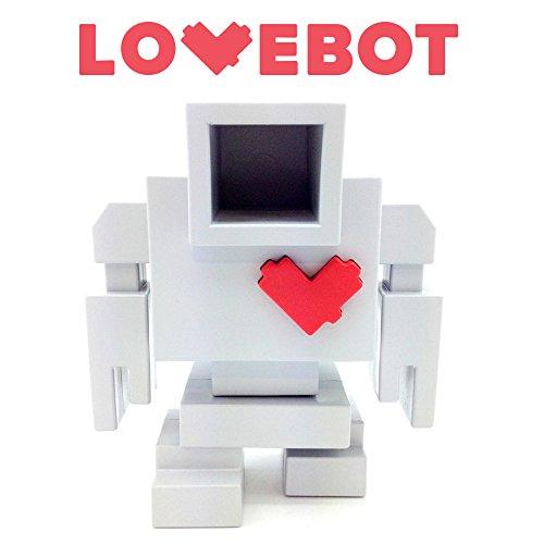 Lovebot DIY Robot Vinyl Art Toy by Matthew Del Degan x Mindzai (Painting Vinyl Toys)