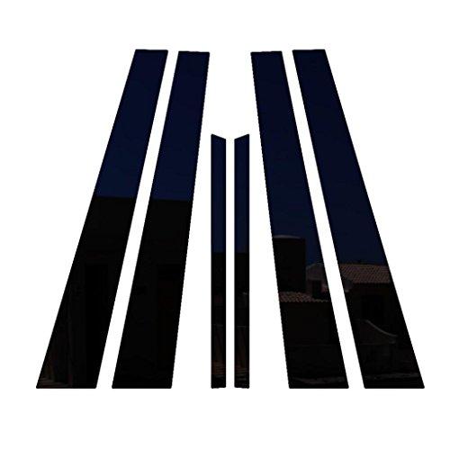 Ferreus Industries Piano Black Pillar Post Trim Cover fits: 2003-2010 Mercedes E-Class All Models PIL-126-GB