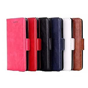 FJM High Quality Oil Skin Flip Leather Wallet Cover for iPhone 6(Assorted Colors) , Brown