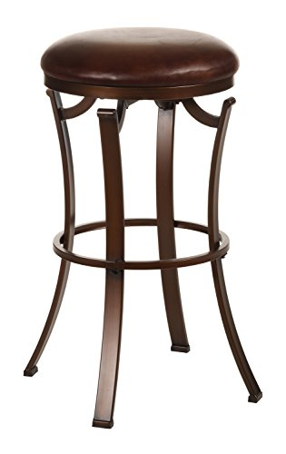 Hillsdale Kelford Backless Swivel Counter Stool, Antique Bronze