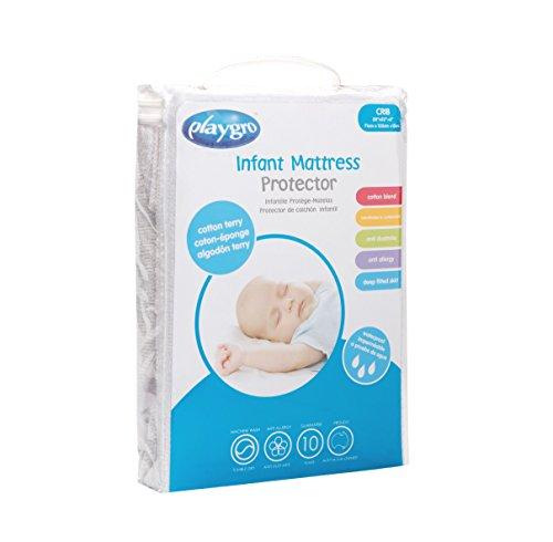 Playgro Crib Mattress Protector Cotton Terry, White