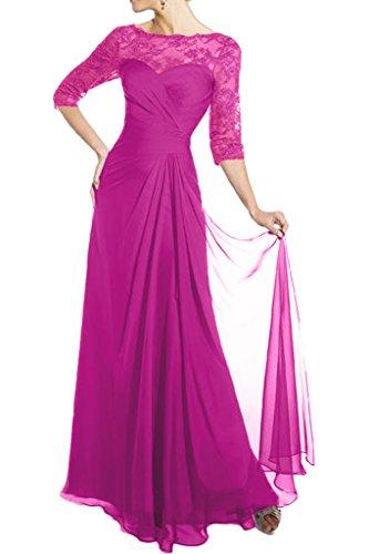 Partykleider Braut Pink Neuheit Glamour Brautmutter Marie Spitze Chiffon Abendkleider La Langarm Tanzenkleider Formale 81pZq7Wc