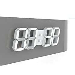 ROIRETNI White Modern LED Wall Clock PLUS+