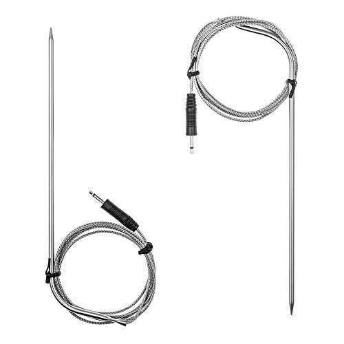Gain Anpro Digital Touchscreen Cooking Thermometer and Timer with 2 Stainless Steel Probes - White reviews