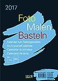 Foto-Malen-Basteln A5 schwarz 2017: Kalender zum Selbstgestalten