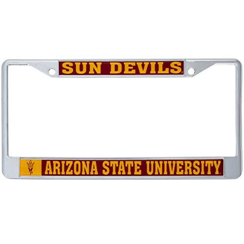 Arizona State University Sun Devils Metal License Plate Frame for Front Back of Car Officially Licensed -