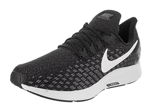 NIKE Womens Air Zoom Pegasus 35 Running Shoes Black/White/Gunsmoke/Oil Grey (6.5 B(M) US) by NIKE