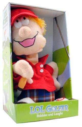 (Laugh Out Loud LOL Golfer Lauging & Talking Bobble Head Plush by Coyne's Company)
