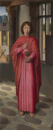 Oil Painting 'Hans Memling Saint John The Evangelist (1)', 30 x 73 inch / 76 x 186 cm , on High Definition HD canvas prints is for Gifts And Garage, Home Theater And Nursery Decoration by LuxorPre