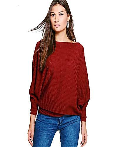 Red Blouse Couleur YFLTZ Femme Unie xZXSX