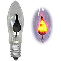 National Artcraft Flicker Flame Candelabra Base Light Bulb Imitates The Look of A Flickering Candle for Holiday Use and Many Crafts (Pkg/5)