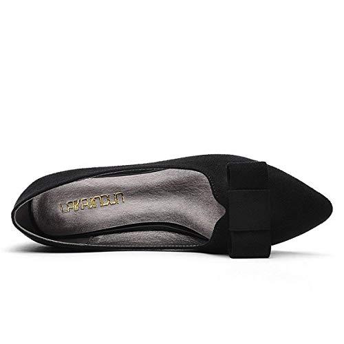 Fuxitoggo Puntiagudo Mis Madre Negro Mi De color 37 Pedal Calzado Zapatos Tamaño Camello Con Arco RRqwxrf