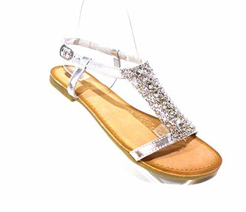 GIOSEPPO zapatos de mujer sandalias planas 40493-47 OCÉANEs talla 39 Plata