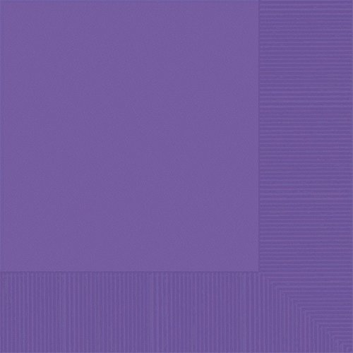 Luncheon Size Napkins, Purple, 50-Pack