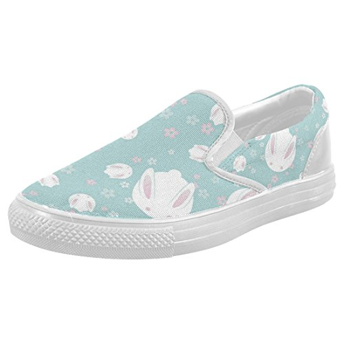 c1396b86427dec 80%OFF InterestPrint Cute Rabbit Casual Slip-on Canvas Women s Fashion  Sneakers Shoes