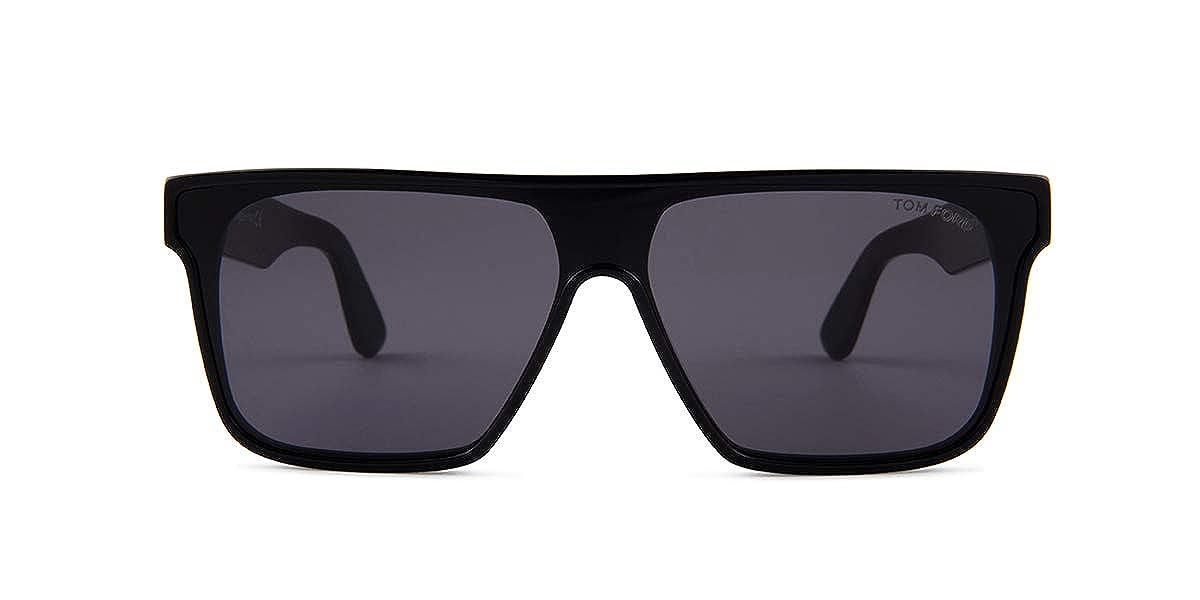 65ed4d7439c Tom Ford WHYAT FT 0709 BLACK SMOKE 0 0 140 men Sunglasses at Amazon Men s  Clothing store