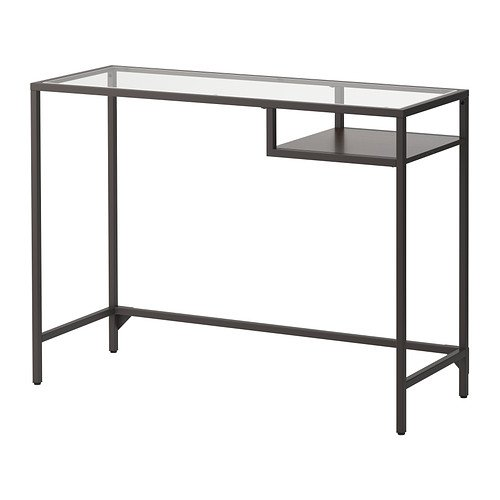 IKEA VITTSJÖ,laptop table, black-brown, glass by IKEA (Image #1)