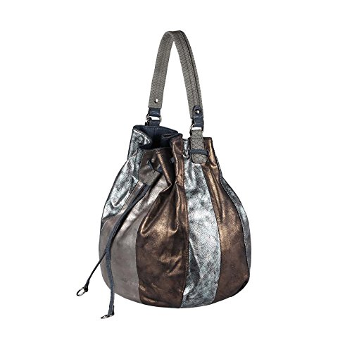 Obc large beautiful grau bronze De xx Extra large Bolso taupe Para couture Silber Only Mujer Negro Tela schwarz Silber rOxqAwvrn5