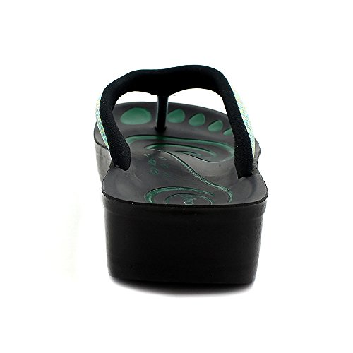 Aerosoft Andria Womens Comfort Sandals Orthotic Shoes Flip Flops Green DxJ0v