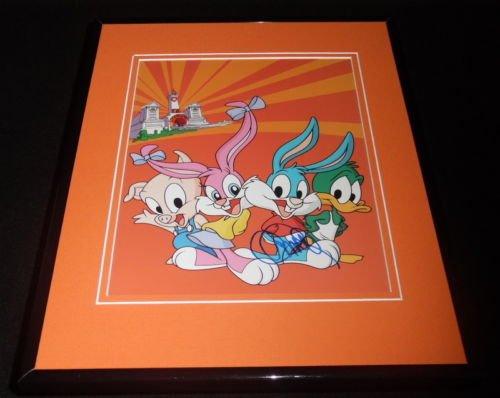 Charles Adler Signed Framed 8x10 Photo AW Tiny Toons Buster - Steel Adler
